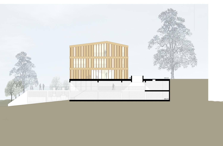 Rickenbach_Gemeindehaus_Südfassade